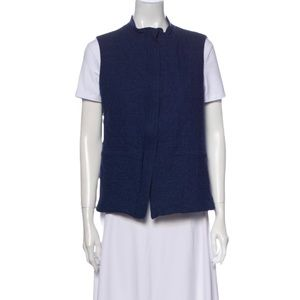 Lafayette 148 New York Quilted 100% Wool Vest